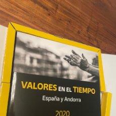 Timbres: SELLOS ESPAÑA Y ANDORRA AÑO 2020 LIBRO VALORES EN EL TIEMPO. Lote 268471884