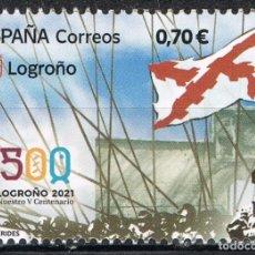 Sellos: [C0348] ESPAÑA 2021. 500 ANIVERSARIO DE LOGROÑO (MNH). Lote 269332693