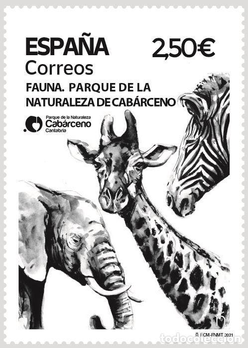 ESPAÑA 2021 FAUNA PARQUE DE LA NATURALEZA DE CABÁRCENO MNH ED 5496 YT 5235 (Sellos - España - Felipe VI)