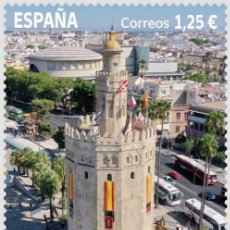 Sellos: ESPAÑA 2021 VIII CENTENARIO DE LA TORRE DEL ORO DE SEVILLA MNH ED 5494 YT 5234. Lote 269967733