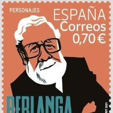 Sellos: ESPAÑA 2021 PERSONAJES CENTENARIO DEL NACIMIENTO DE LUIS GARCÍA BERLANGA MNH ED 5498 YT 5237. Lote 269967903