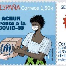 Sellos: ESPAÑA 2021 SELLO SOLIDARIO ACNUR FRENTE A LA COVID-19 MNH ED 5500 YT 5239. Lote 269967963