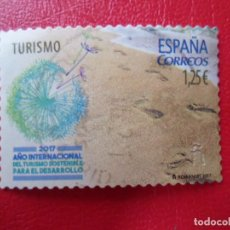 Selos: -2017, AÑO INTERNACIONAL DEL TURISMO SOSTENIBLE PARA EL DESARROLLO, EDIFIL 5114. Lote 270051623