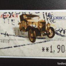 Sellos: ##ESPAÑA - ATM COCHES CLASICOS HISPANO SUIZA USADO##. Lote 270225453