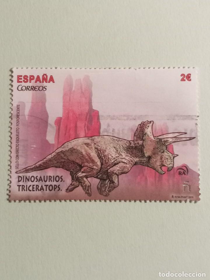 SELLOS DINOSAURIOS - ESPAÑA- M9 (Sellos - España - Felipe VI)