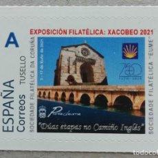 Francobolli: 2021. ESPAÑA. SELLO PERSONALIZADO. IGLESIA Y PUENTE DE PONTEDEUME (A CORUÑA). EXPO XACOBEO'21. NUEVO. Lote 275030853