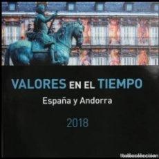 Sellos: 2018-ESPAÑA LIBRO CORREOS ESPAÑA Y ANDORRA COMPLETO - PRECINTADO -. Lote 276416858