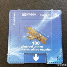 Sellos: ESPAÑA Nº YVERT 5164 *** AÑO 2020. CENTENARIO 1º CORREO AEREO ESPAÑOL, SELLO TROQUELADO. Lote 277200863