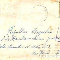 Sellos: ESPANA SOBRE CON FAJAS Y MARCAS DE CENSURA 1945. Lote 277358933