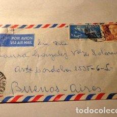 Sellos: ESPANA 1969 PUENTEAEREAS PONTEVEDRA A BSAS ARG. Lote 277361538