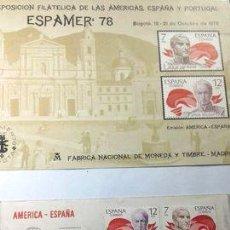 Sellos: SOBRE Y TARJETA ESPANA SAN MARTIN BOLIVAR ESPAMER 78. Lote 277375958