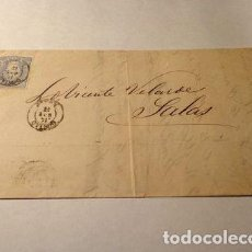 Sellos: ESPANA CARTA INTERIOR DICE GIJON MATASELLO 1871. Lote 277386318