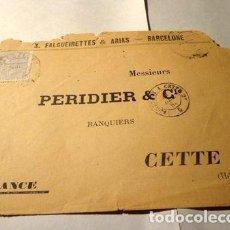 Sellos: ESPANA 1883 MAT BARCELONA A CETTE HERAULT FRANCIA. Lote 277400543