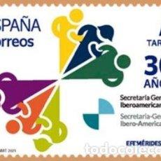 Sellos: ESPAÑA 2021 30 AÑOS DE LAS CUMBRES IBEROAMERICANAS (1991-2021) MNH ED 5512 YT 5252. Lote 277719413