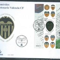 Sellos: ESPAÑA 2019 HB CENTENARIO VALENCIA CF FDC ED HB-5299 YT F5035. Lote 278420963