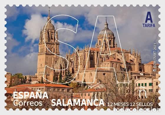 SPAIN 2021 - 12 MONTHS 12 STAMPS - SALAMANCA MNH (Sellos - España - Felipe VI)