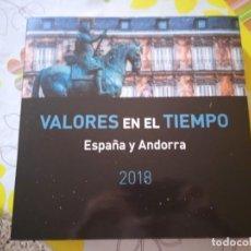 Sellos: LIBRO/ÁLBUM SELLOS ESPAÑA/ANDORRA 2018 CON TODOS SUS SELLOS. Lote 278966378