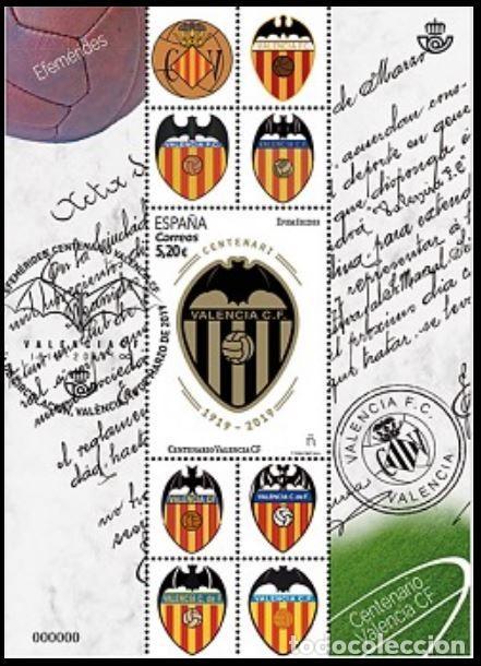 ESPAÑA 2019 HB CENTENARIO VALENCIA CF USADO ED HB-5299 YT F5035 (Sellos - España - Felipe VI)
