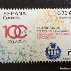 Sellos: ESPAÑA AÑO 2021. CENTENARIO DE INGENIEROS DE TELECOMUNICACIONES. Lote 281832013