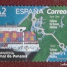 Sellos: SELLOS USADOS ESPAÑA 2019 CANAL DE PANAMA, TARIFA A2. Lote 282057988