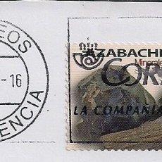 Sellos: MINERALES AZABACHE 2020. TARIFA A. SOBRE FRAGMENTO VALENCIA 15-9-21. Lote 288063973
