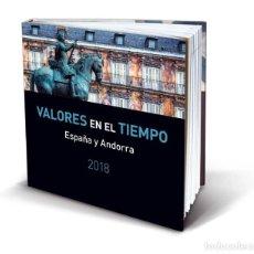 Sellos: CORREOS 2018 VALORES EN EL TIEMPO CON SELLOS ESPAÑA Y ANDORRA. CON LAMINA NUMERADA GLORIA FUERTES. Lote 288611093