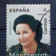 Sellos: ESPAÑA 2019 MONTSERRAT CABALLE SELLO USADO. Lote 288745918