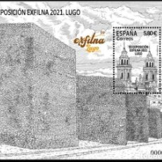 Sellos: ESPAÑA 2021 HB EXFILNA 2021 LUGO MNH ED HB-5531 YT F5271. Lote 294809483