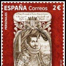 Sellos: ESPAÑA 2021 PEDRO FERNÁNDEZ DE CASTRO ANDRADE Y PORTUGAL. VII CONDE DE LEMOS MNH ED 5532 YT 5272. Lote 294809718