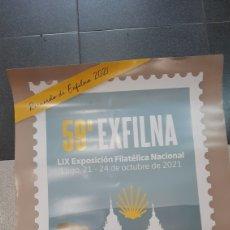 Sellos: MATASELLO EXFILMA LUGO LUGO PÓSTER CARTEL 85X64 FILATELIA COLISEVM. Lote 295633168