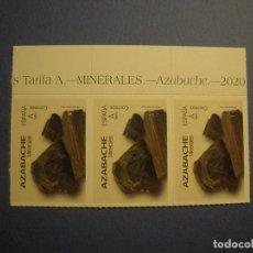 Sellos: ESPAÑA 2020 - MINERALES - EDIFIL 5404 - AZABACHE - 3 SELLOS - NUEVO.. Lote 295774548