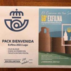 Sellos: PACK BIENVENIDA EXFILMA 2021 LUGO. GALICIA. Lote 295957013
