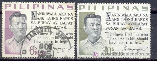 FILIPINAS 1963. RAMON MAGSAYSAY (Sellos - Extranjero - Asia - Filipinas)