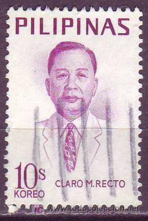 FILIPINAS1969. SENADOR CLARO M. RECTO (Sellos - Extranjero - Asia - Filipinas)