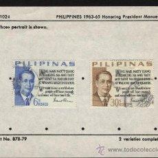 Sellos: SELLOS FILIPINAS 1963-65 EN HONOR AL PRESIDENTE MANUEL ROXAS. Lote 25763895