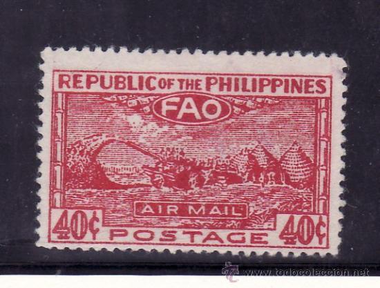 FILIPINAS A 38 SIN GOMA, F.A.O., CONFERENCIA DE LA ORGANIZACION ALIMENTARIA, (Sellos - Extranjero - Asia - Filipinas)