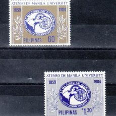 Sellos: FILIPINAS 1418/9 SIN CHARNELA, 125º ANIVERSARIO DE LA UNIVERSIDAD DE MANILA. Lote 25441006