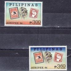 Sellos: FILIPINAS 1397/8 SIN CHARNELA, AUSIPEX 84, EXPOSICION FILATELICA INTERNACIONAL . Lote 25610893