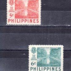Sellos: FILIPINAS 407/8 CON CHARNELA, 3ª CONFERENCIA DE DISTRITO DEL -LIONS INTERNACIONAL-. Lote 25611576