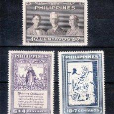 Sellos: FILIPINAS 347/9 CON CHARNELA, PRO BIBLIOTECA NACIONAL, . Lote 25611862