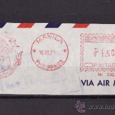 Sellos: FRANQUEO MECANICO FRAGMENTO 1971 MANILA. Lote 26733415