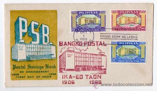 SOBRE PRIMER DÍA. FILIPINAS. MANILA, 1 DE OCTUBRE DE 1966. (Sellos - Extranjero - Asia - Filipinas)
