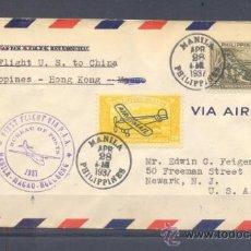 Sellos: 1937.- FILIPINAS A NEWARK (USA). Lote 35225319