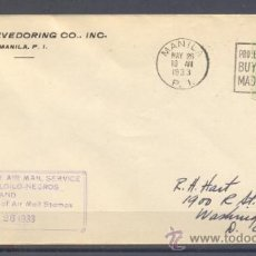 Sellos: 1933.- MANILA A WASHINGTON (USA). Lote 35242483