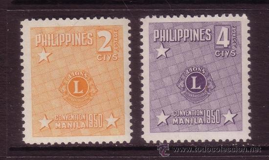 FILIPINAS 366/67** - AÑO 1950 - CONVENCION DE MANILA DE LIONS INTERNACIONAL (Sellos - Extranjero - Asia - Filipinas)