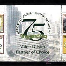 Sellos: FILIPINAS HB 235** - AÑO 2006 - 75º ANIVERSARIO DE ORTIGAS & COMPANY. Lote 38804858