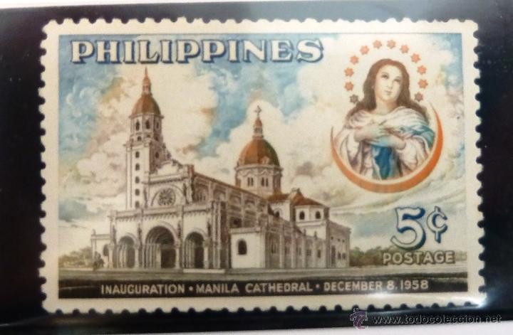 SELLOS FILIPINAS 1958. NUEVO. CATEDRAL DE MANILA. (Sellos - Extranjero - Asia - Filipinas)