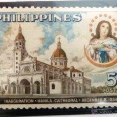 Stamps - SELLOS FILIPINAS 1958. NUEVO. CATEDRAL DE MANILA. - 47762903