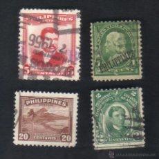 Briefmarken - lote 4 sellos usados, diferentes, filipinas. - 48329845