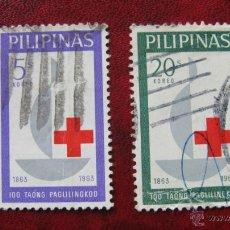 Stamps - filipinas, 1963, centenario de la cruz roja internacional,yvert 570 y 572 - 48432339